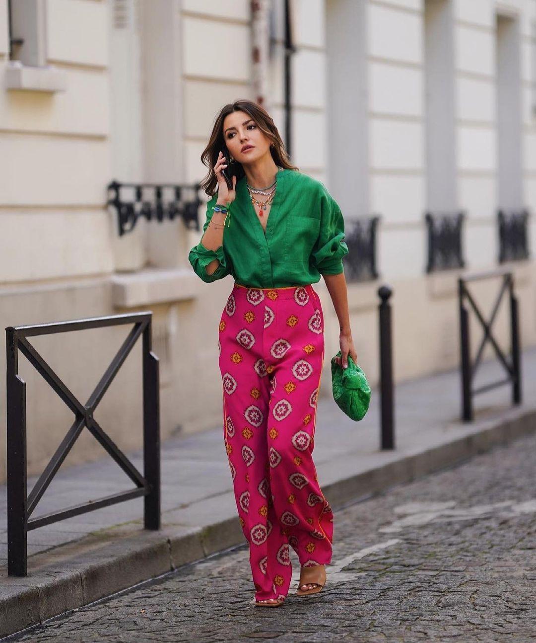 pantalon imprimé limited edition de Zara sur zara.outfits