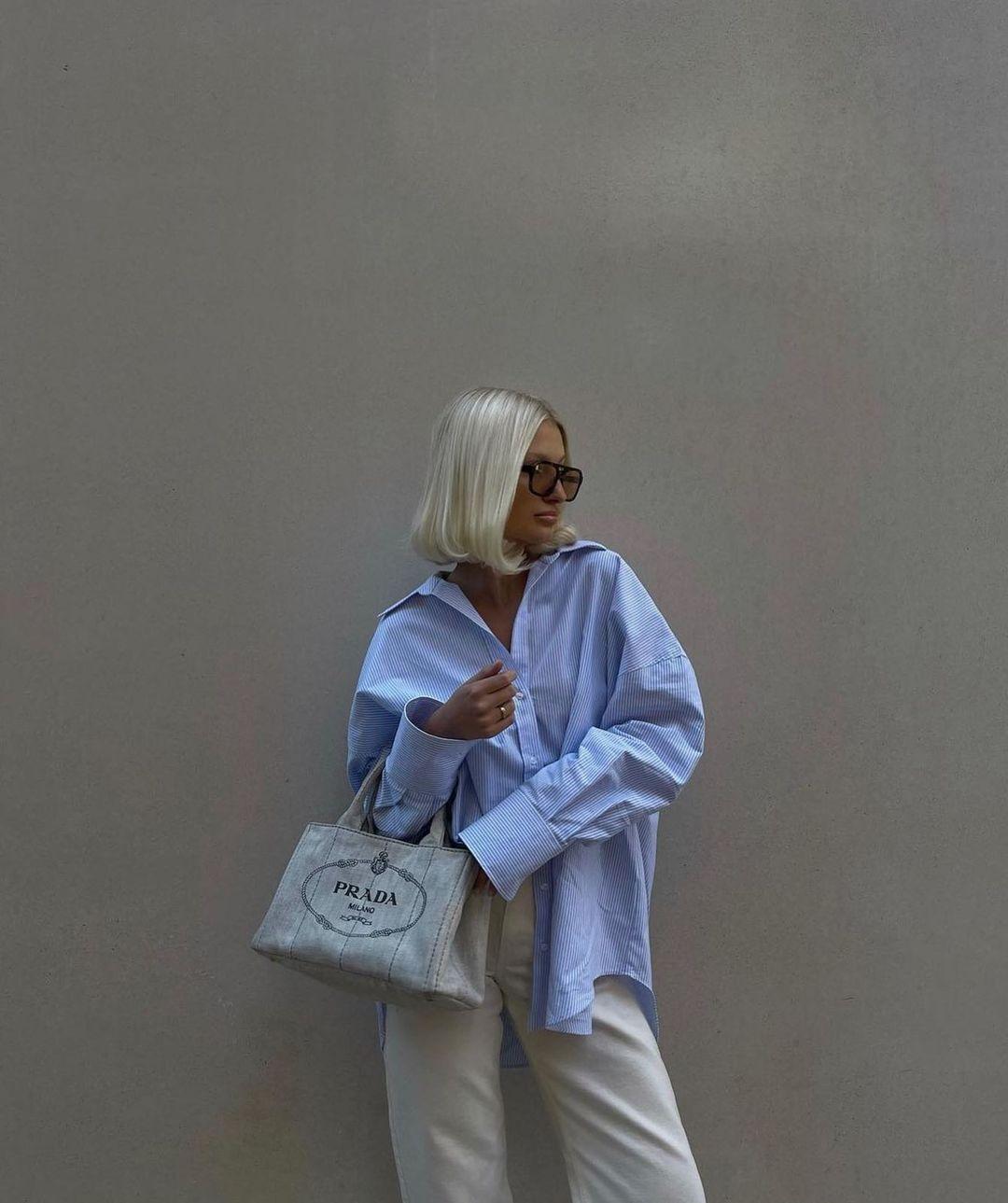 oversized long linen shirt de Zara sur zarastreetstyle