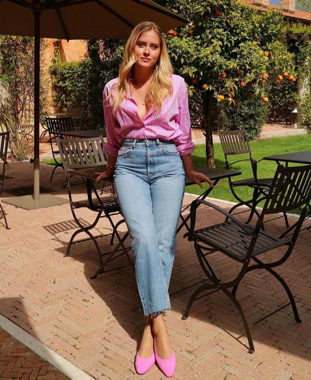 chemise asymétrique à rayures de Zara sur zara.outfits