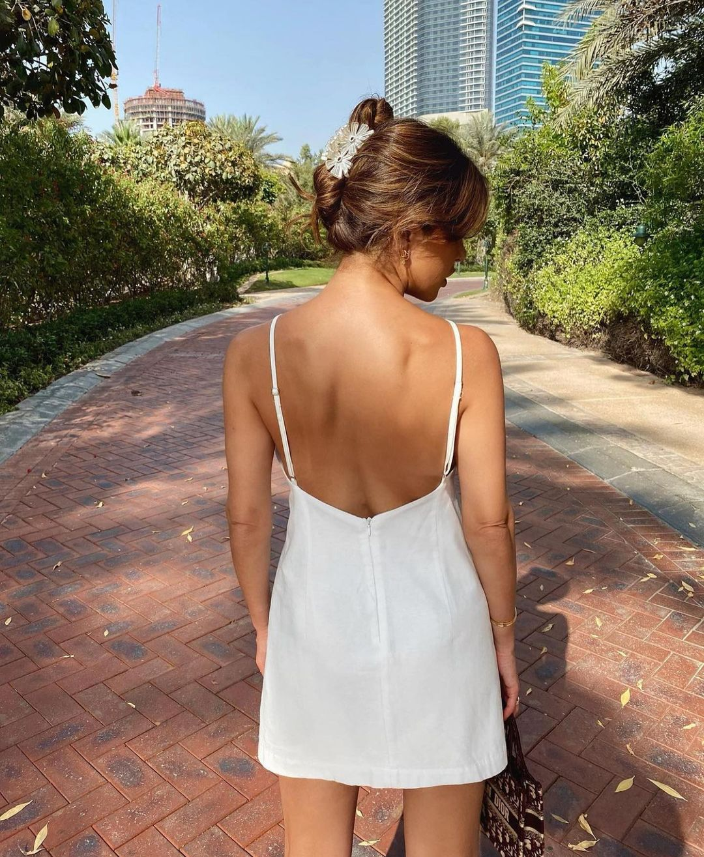 strapless short dress de Zara sur zaraaddiction