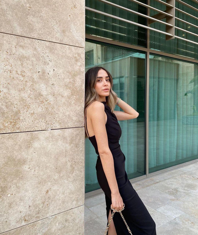 draped mid-length dress de Zara sur zaraaddiction