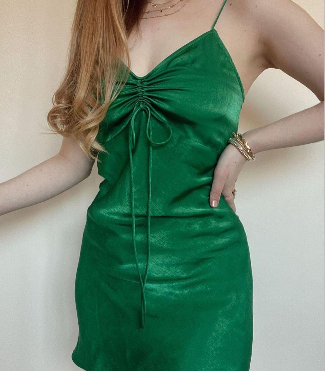 dress style satiny lingerie de Zara sur zara.style.daily