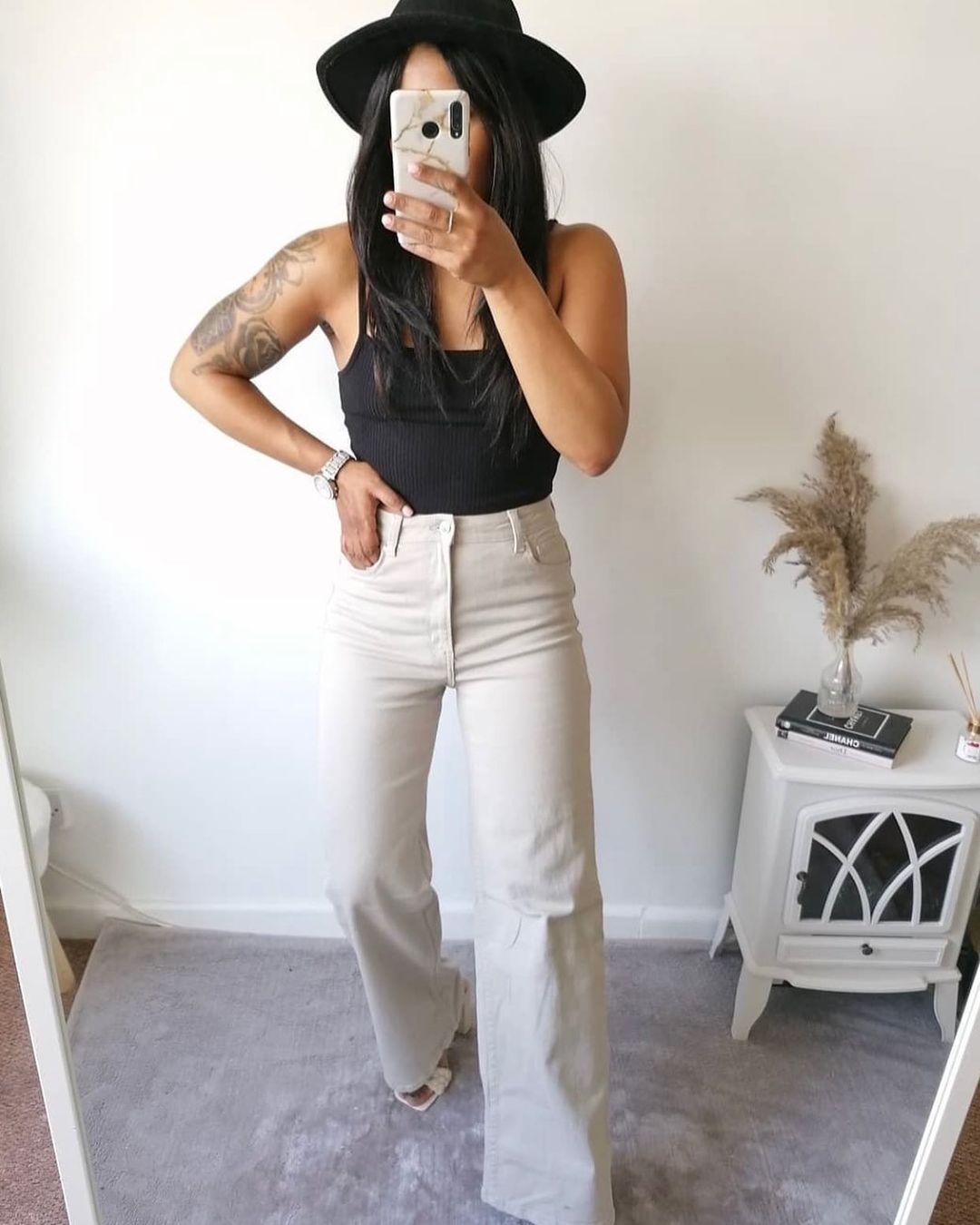 wide high ankle jeans de H&M sur hm.addicted