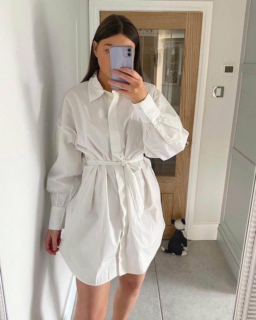 robe chemise avec ceinture de H&M sur hm.addicted