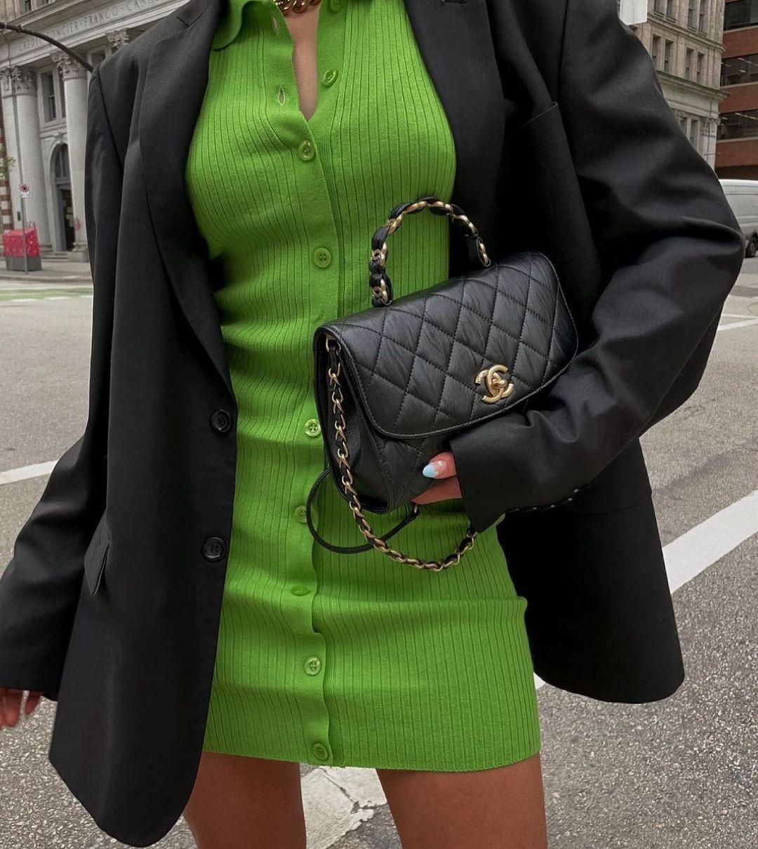 polo neck knit dress de Zara sur zara.style.daily