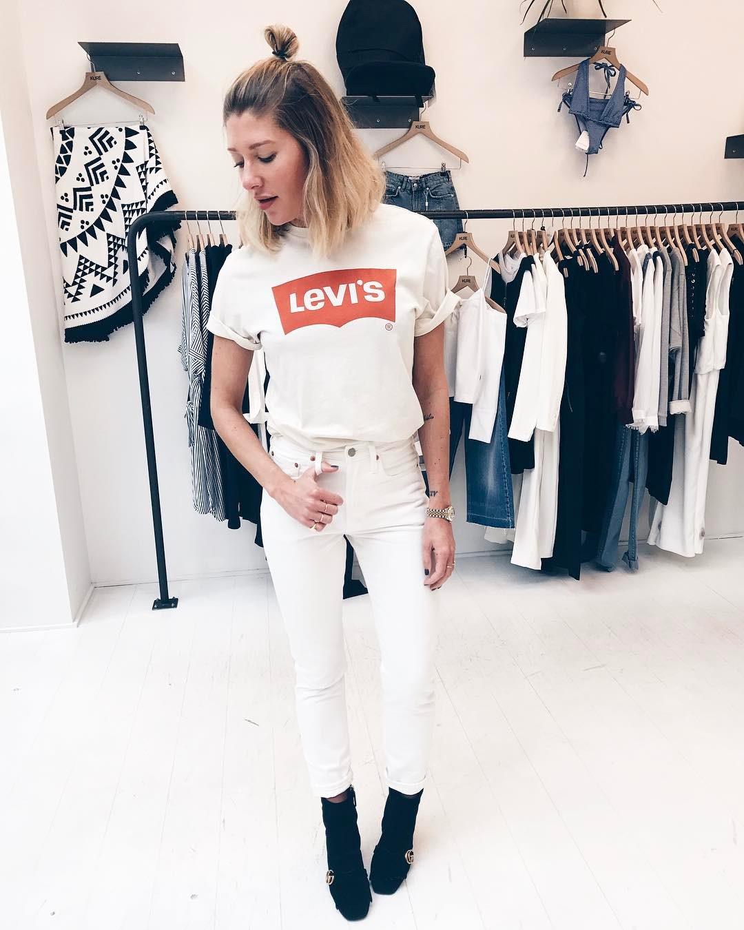 t-shirt levis blanc de Les Bourgeoises sur cyrielleforkure