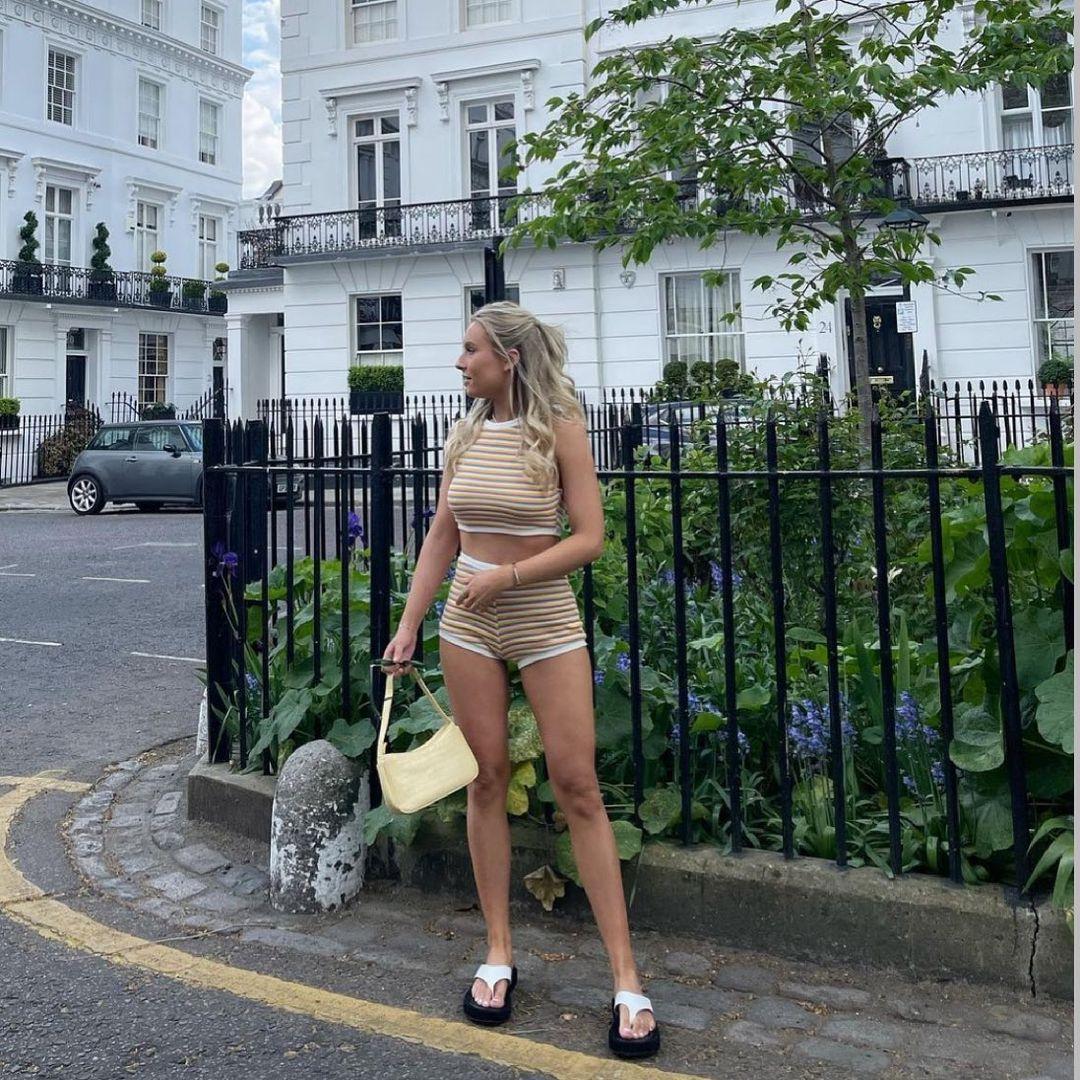 striped jacquard shorts de Zara sur zara.style.daily