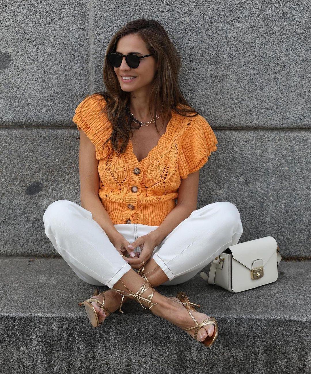 ruffled knit cardigan de Zara sur zara.outfits