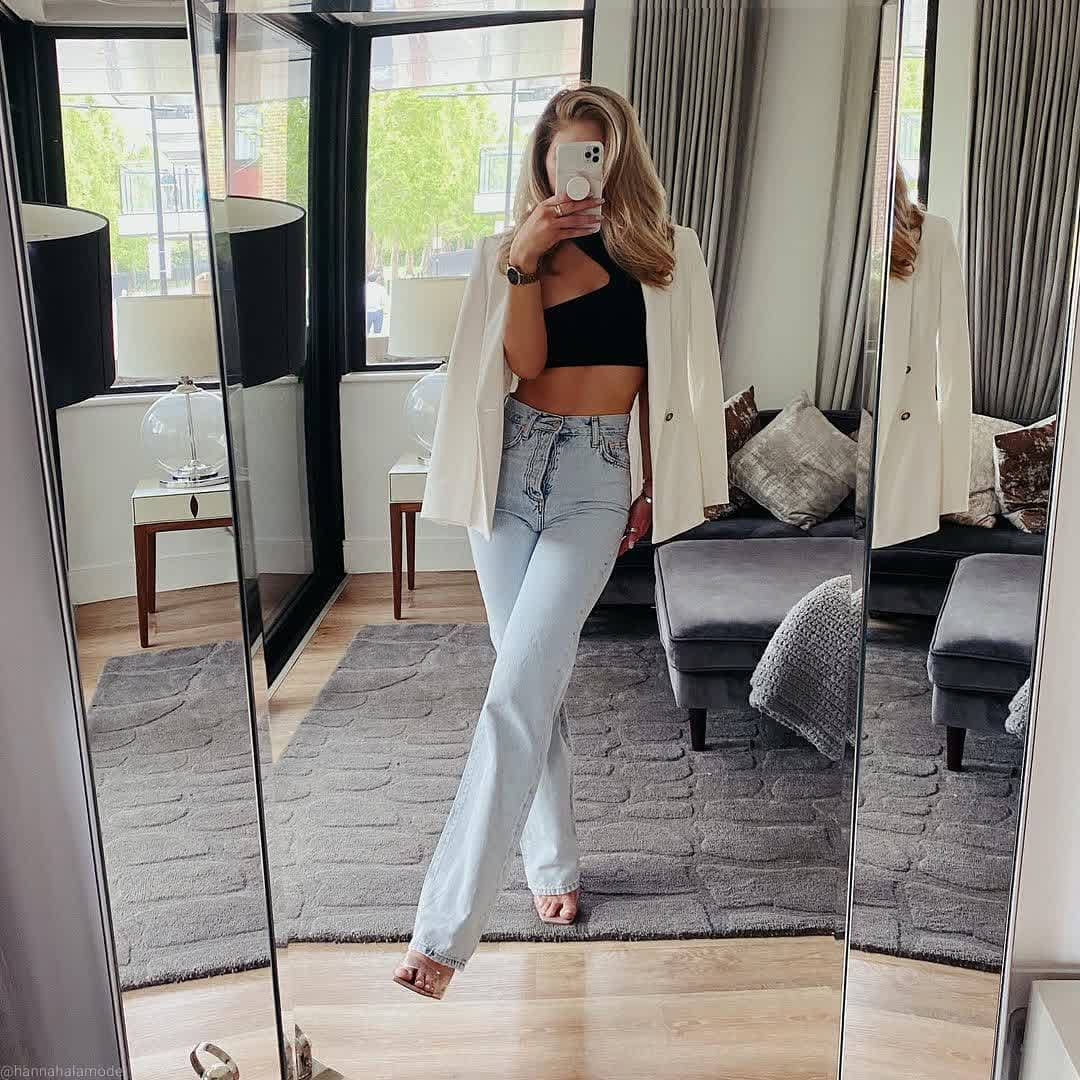 jeans paris de Mango sur mango.outfits