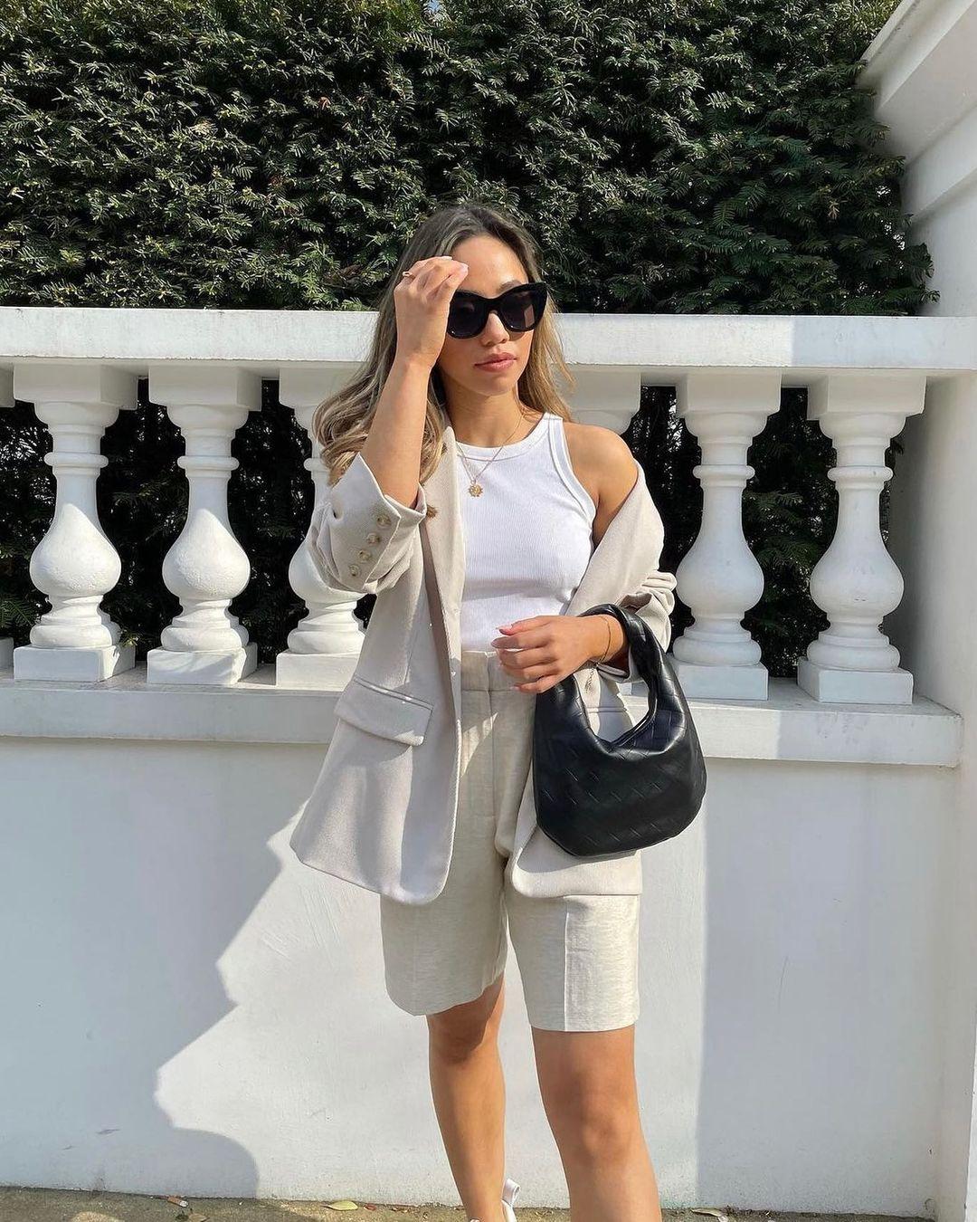 linen-blend jacket de H&M sur hm.addicted