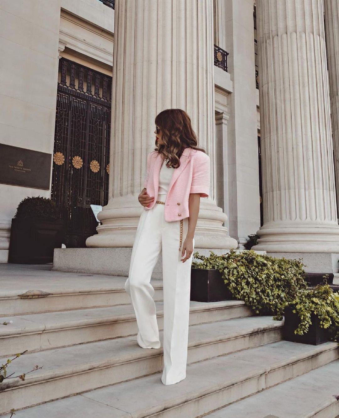 structured crop blazer de Zara sur zara.outfits