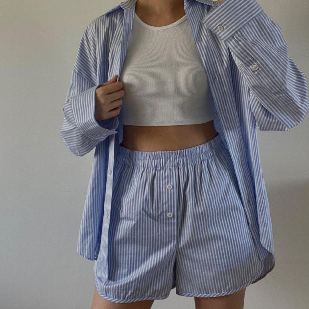 unisex striped shorts de Zara sur zara.style.daily
