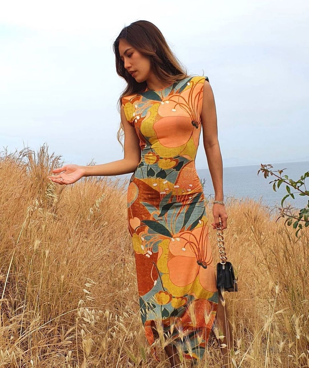 printed dress with cut-out detail de Zara sur zara.style.daily