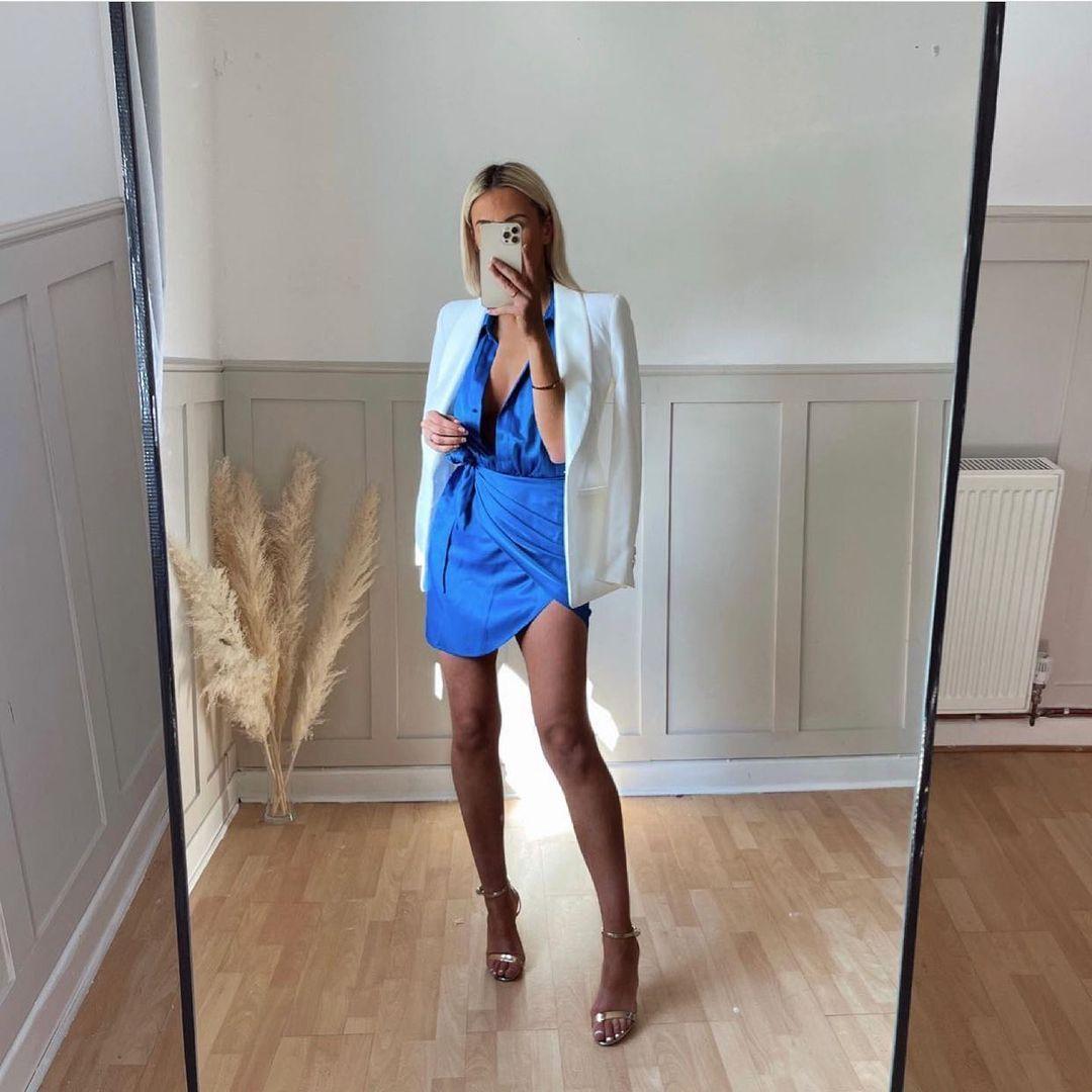 short dress with ruching de Zara sur zara.outfits