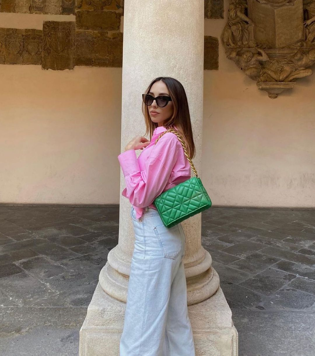 medium quilted shoulder bag with chain de Zara sur zara.style.daily