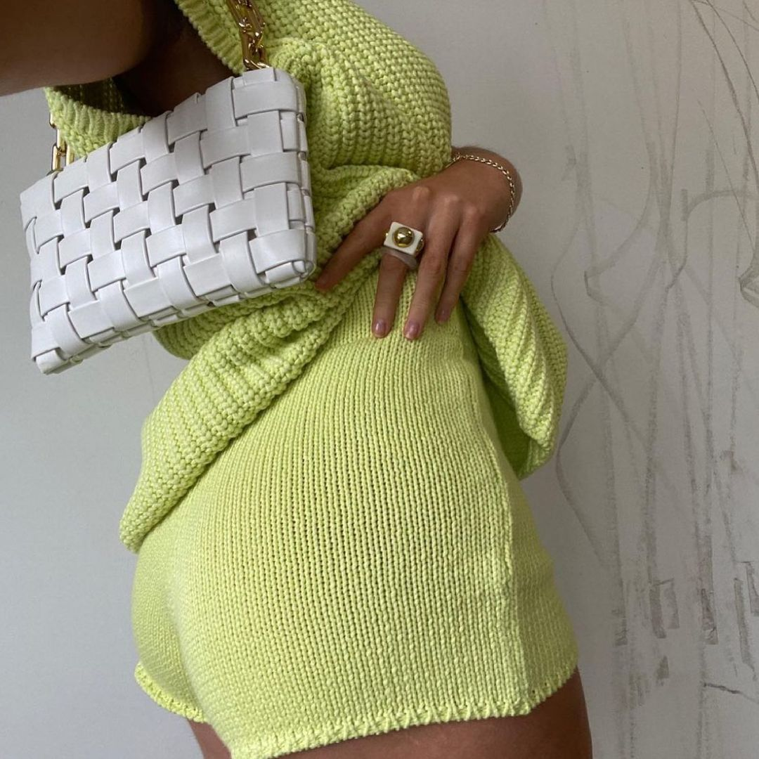 knitted shorts with cotton de Zara sur zara.style.daily
