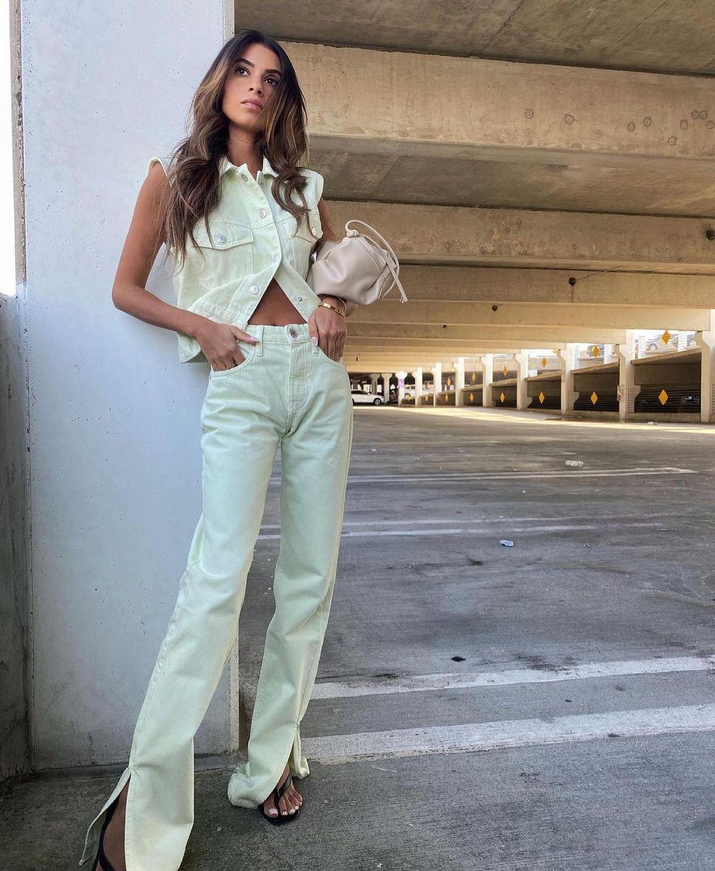 mid rise full length straight split jeans de Zara sur zara.outfits