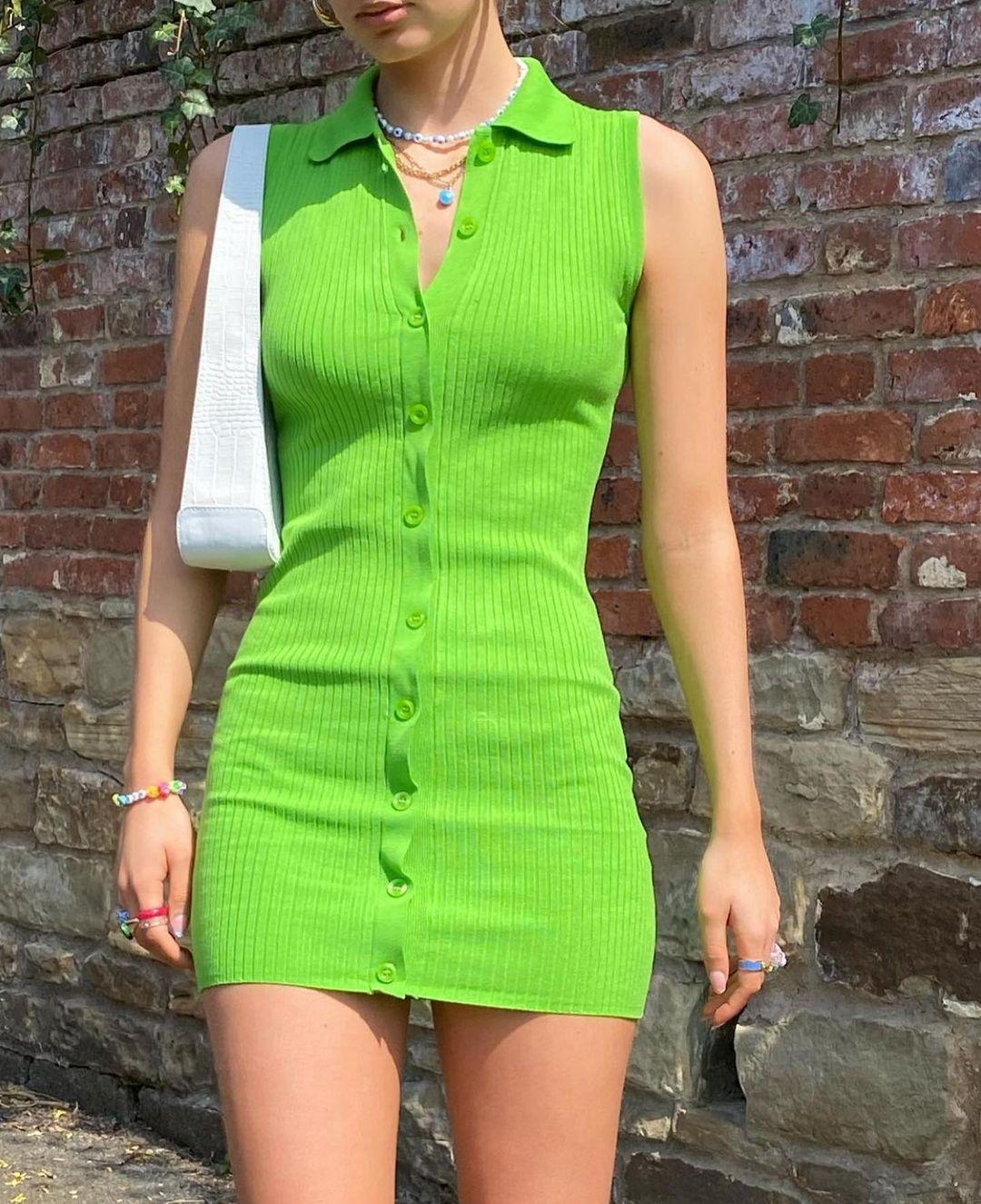 polo neck knit dress de Zara sur zaraaddiction