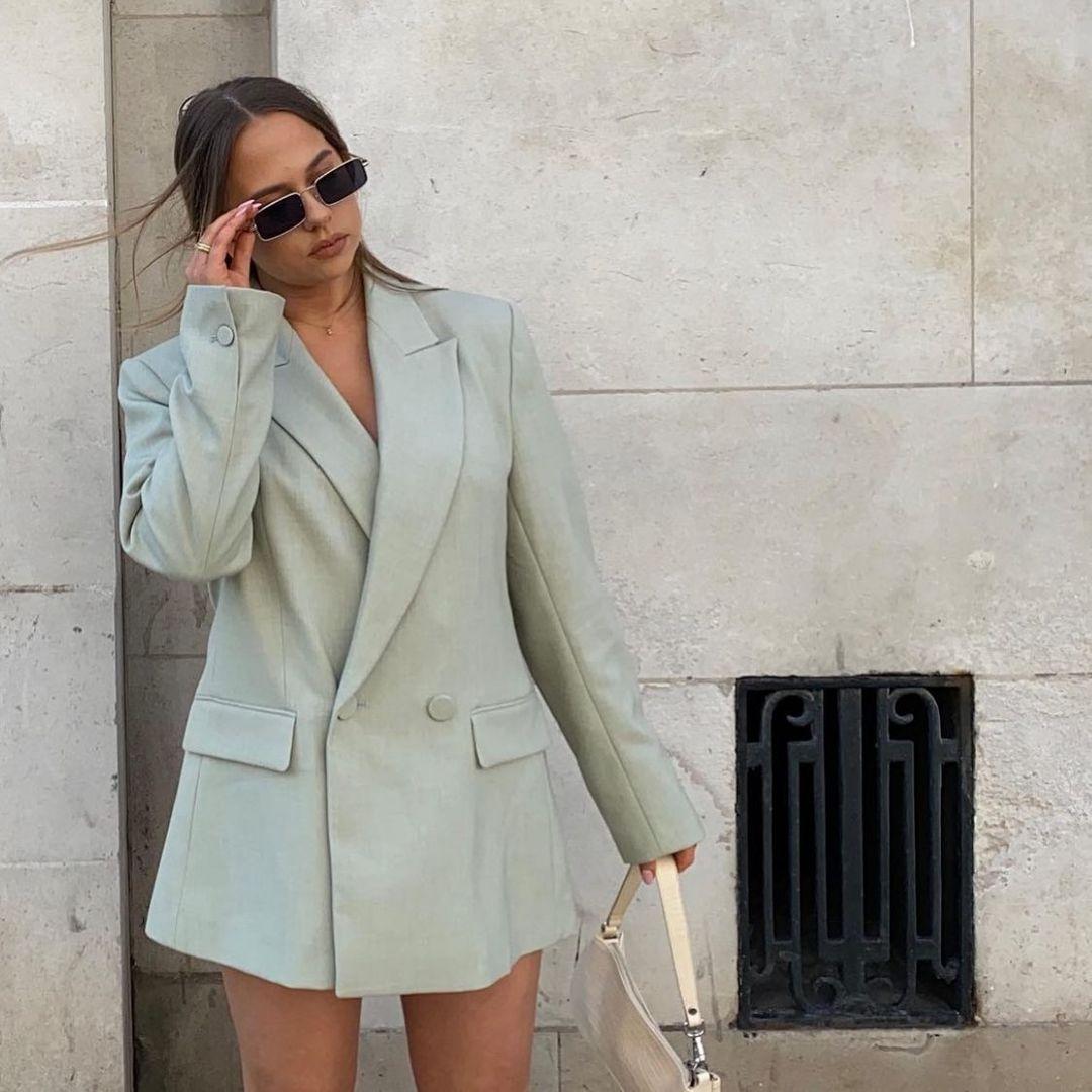 crossover breasted bent blazer de Zara sur zara.style.daily