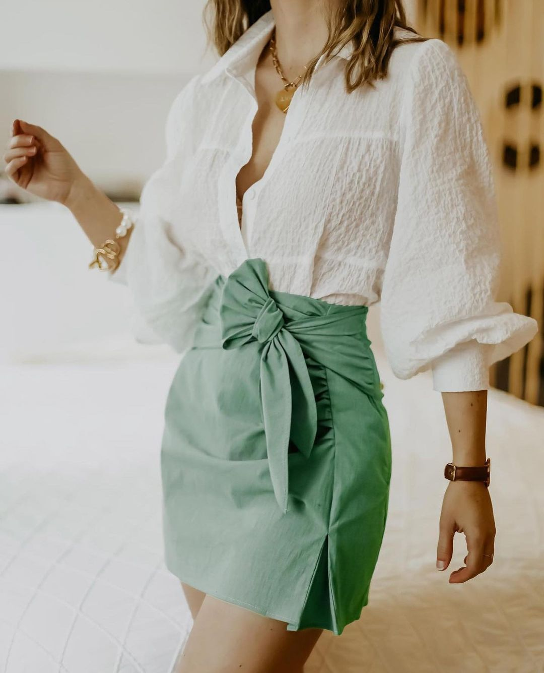 mini skirt with bow de Zara sur zara.outfits