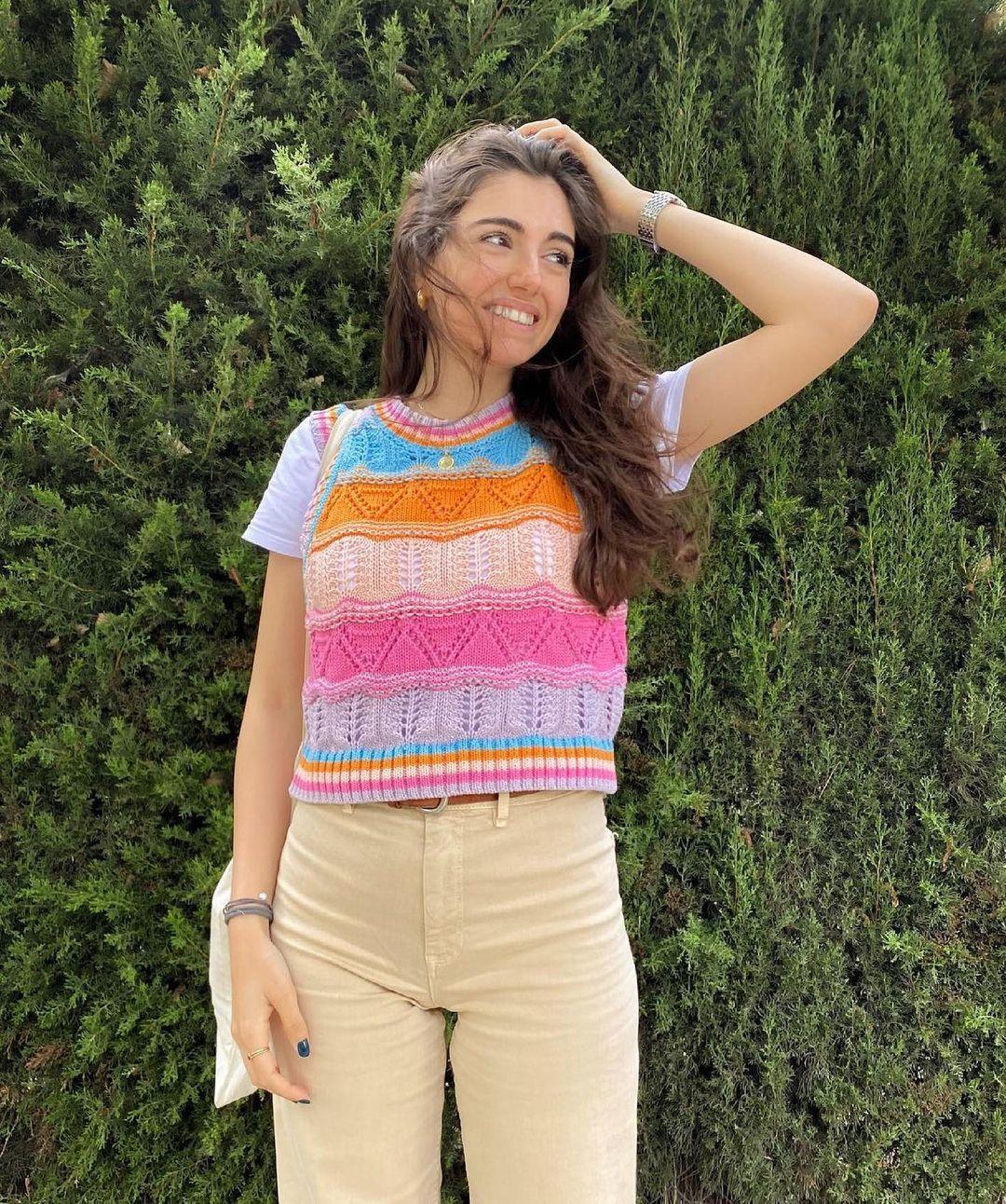 crocheted and knit top de Zara sur zara.outfits