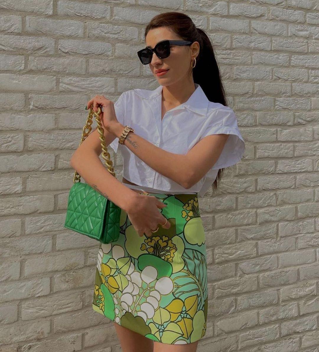 ribbon cropped shirt de Zara sur zara.style.daily