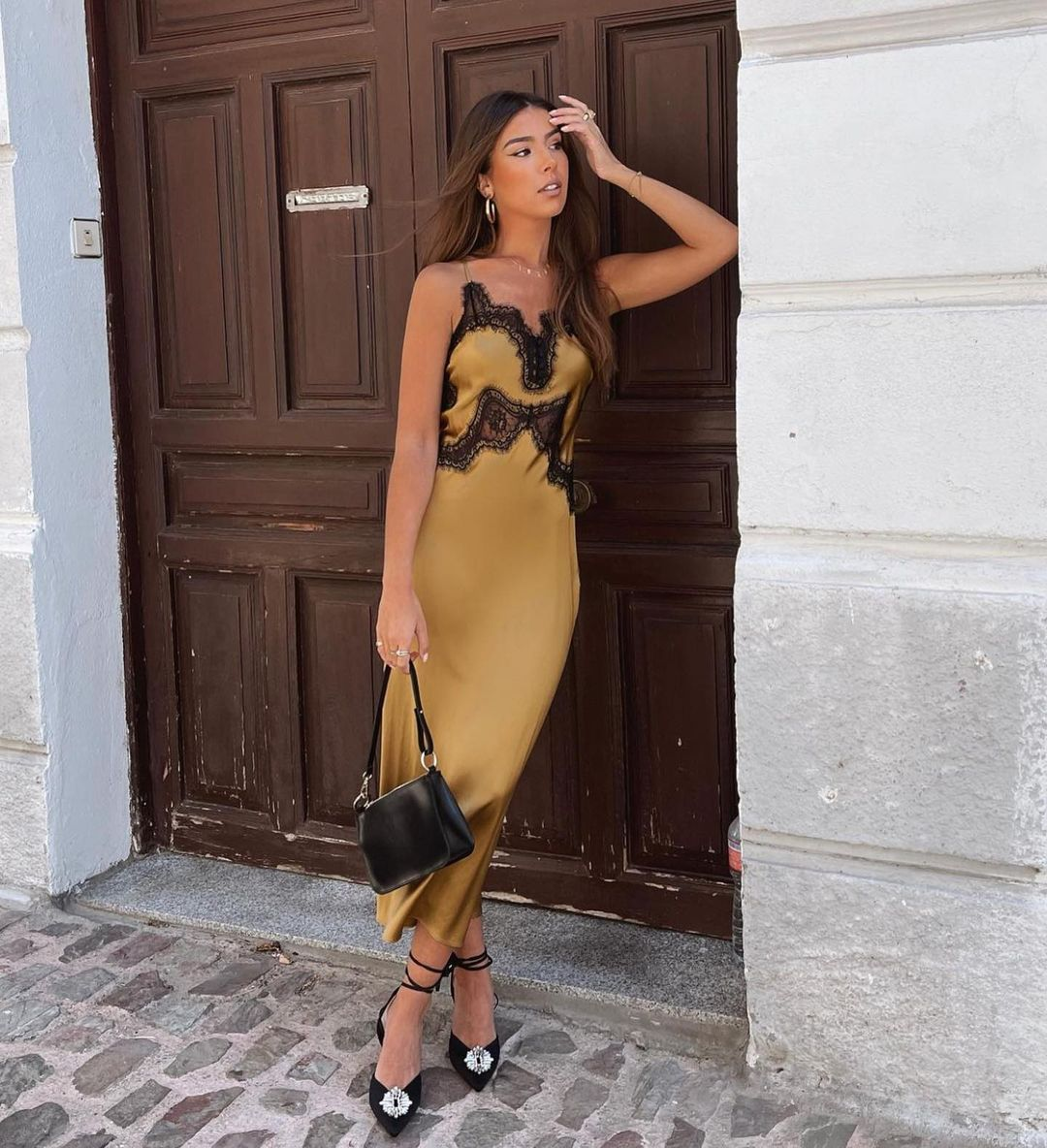long silk dress de Zara sur zaraaddiction