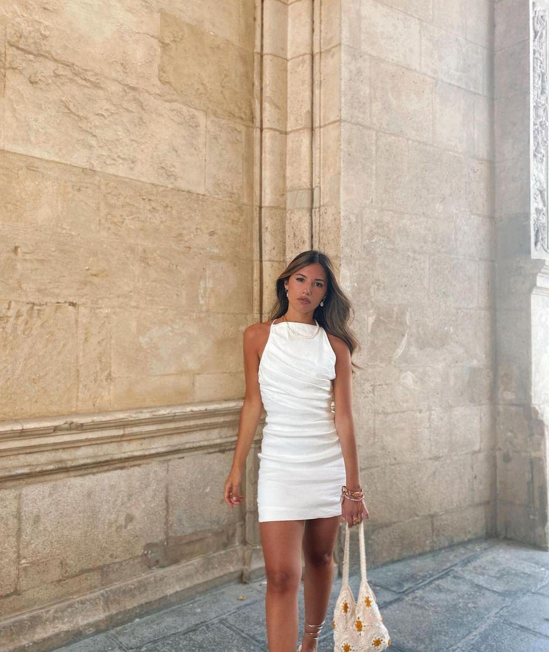 short satin dress de Zara sur zara.outfits
