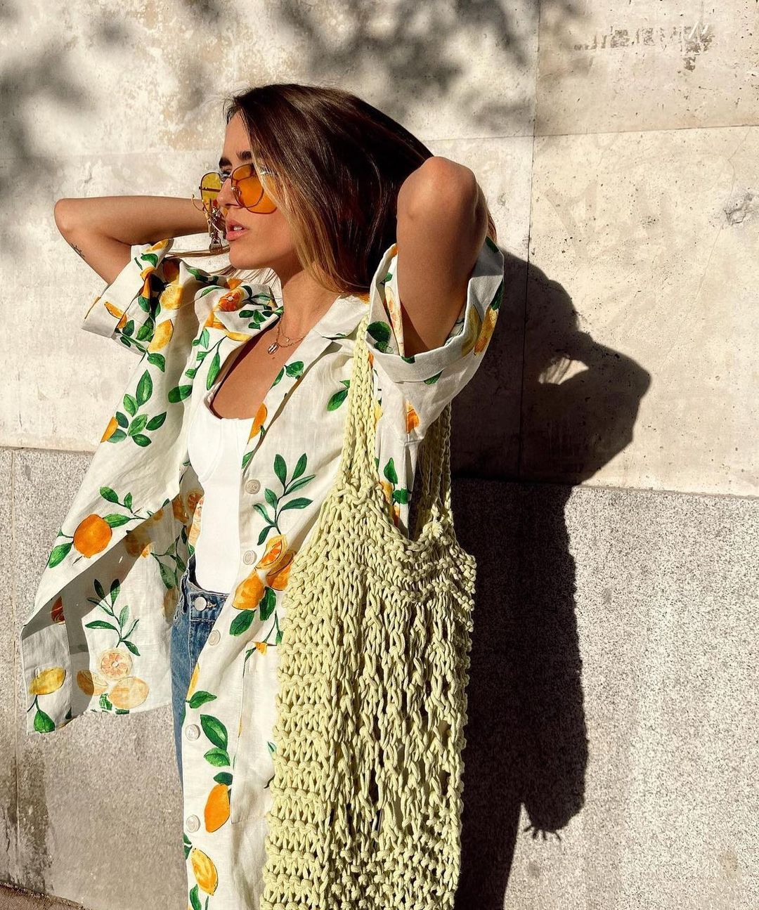 printed dress containing linen de Zara sur zara.outfits