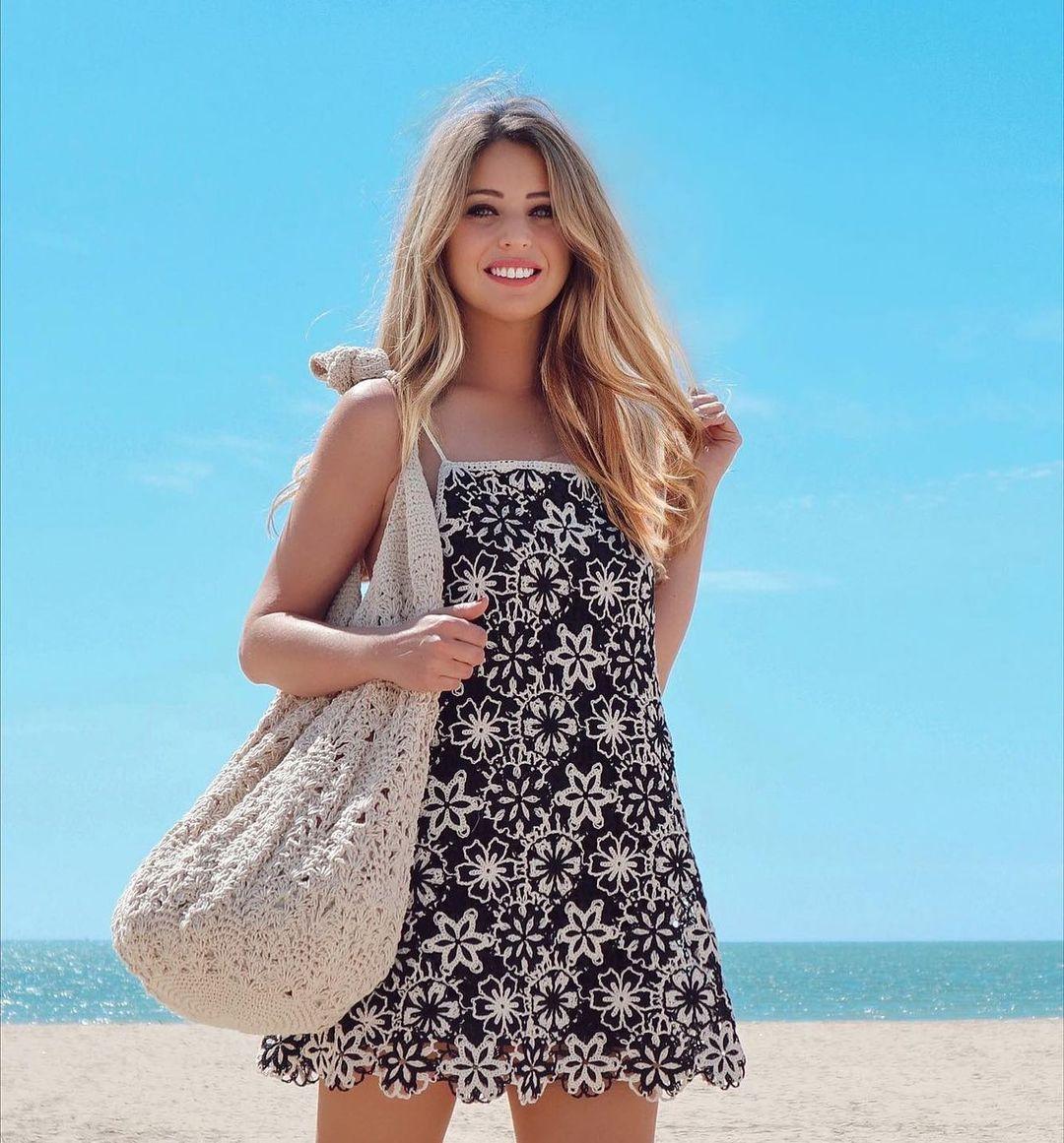 crocheted short dress de Zara sur zaradiccion__