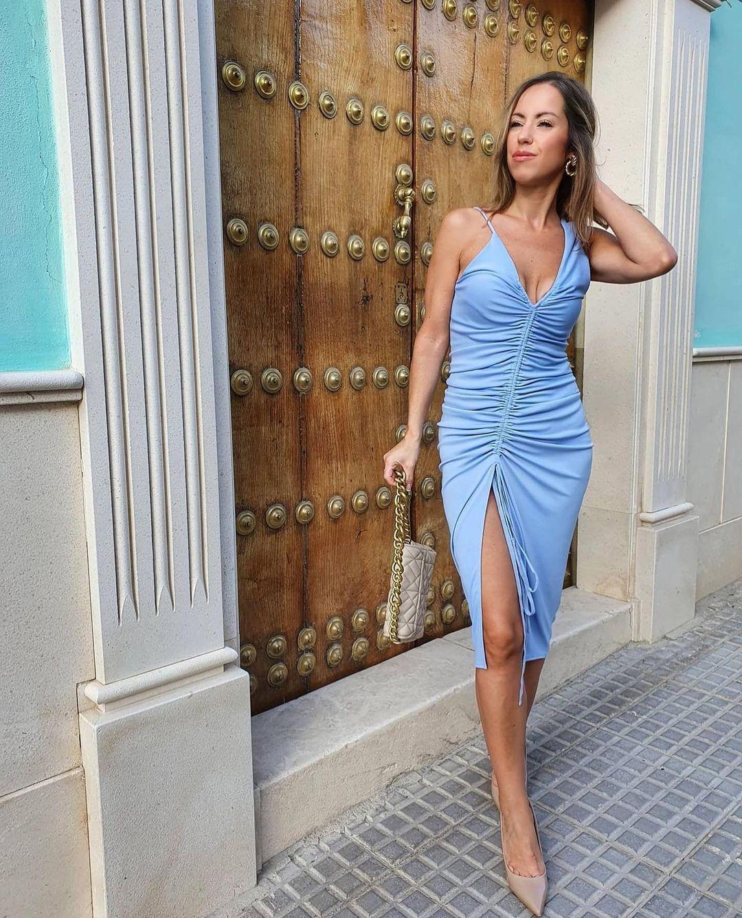 asymmetrical dress with ruching de Zara sur zaradiccion__