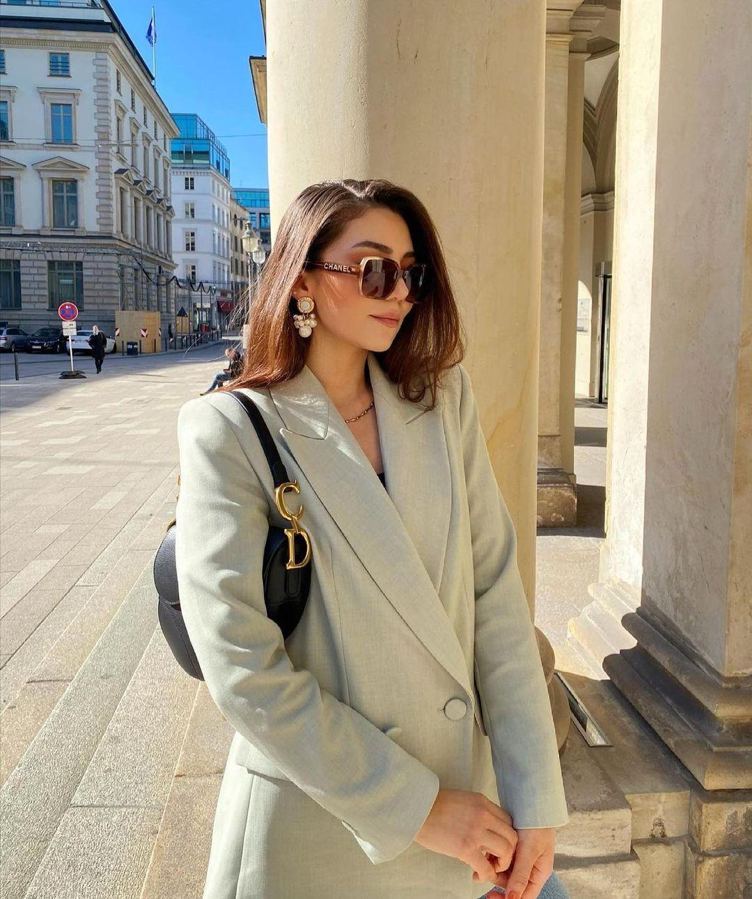 crossover breasted bent blazer de Zara sur zara.outfits