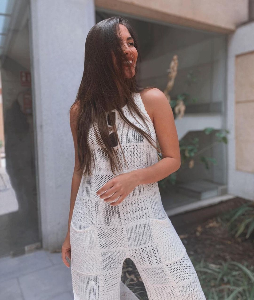 patchwork mesh jumpsuit de Zara sur zara.outfits