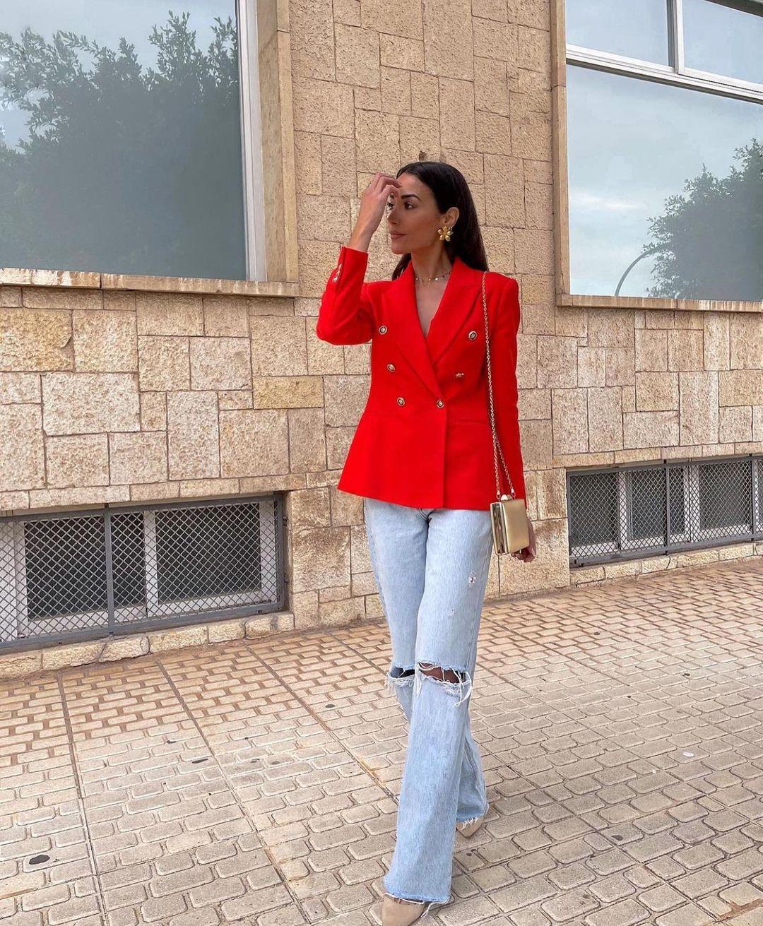 crossbreasted blazer de Zara sur zaraaddiction