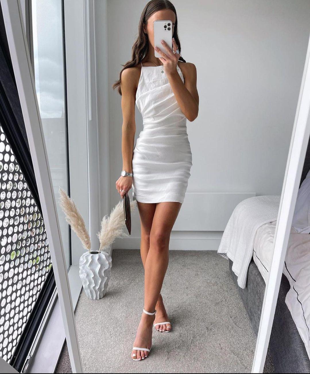 draped dress with linen de Zara sur zaraaddiction