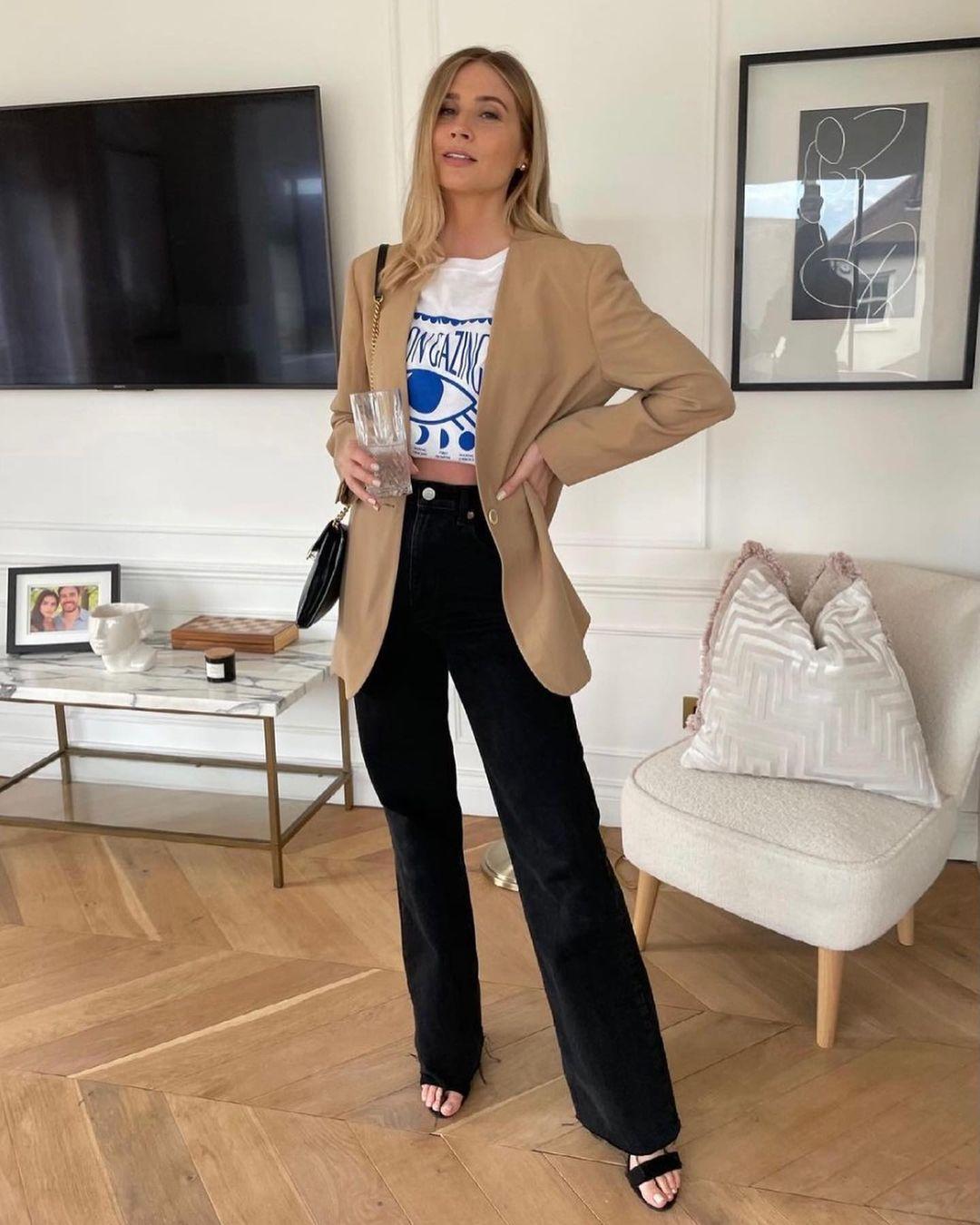 slim bootcut high jeans de H&M sur hm.addicted