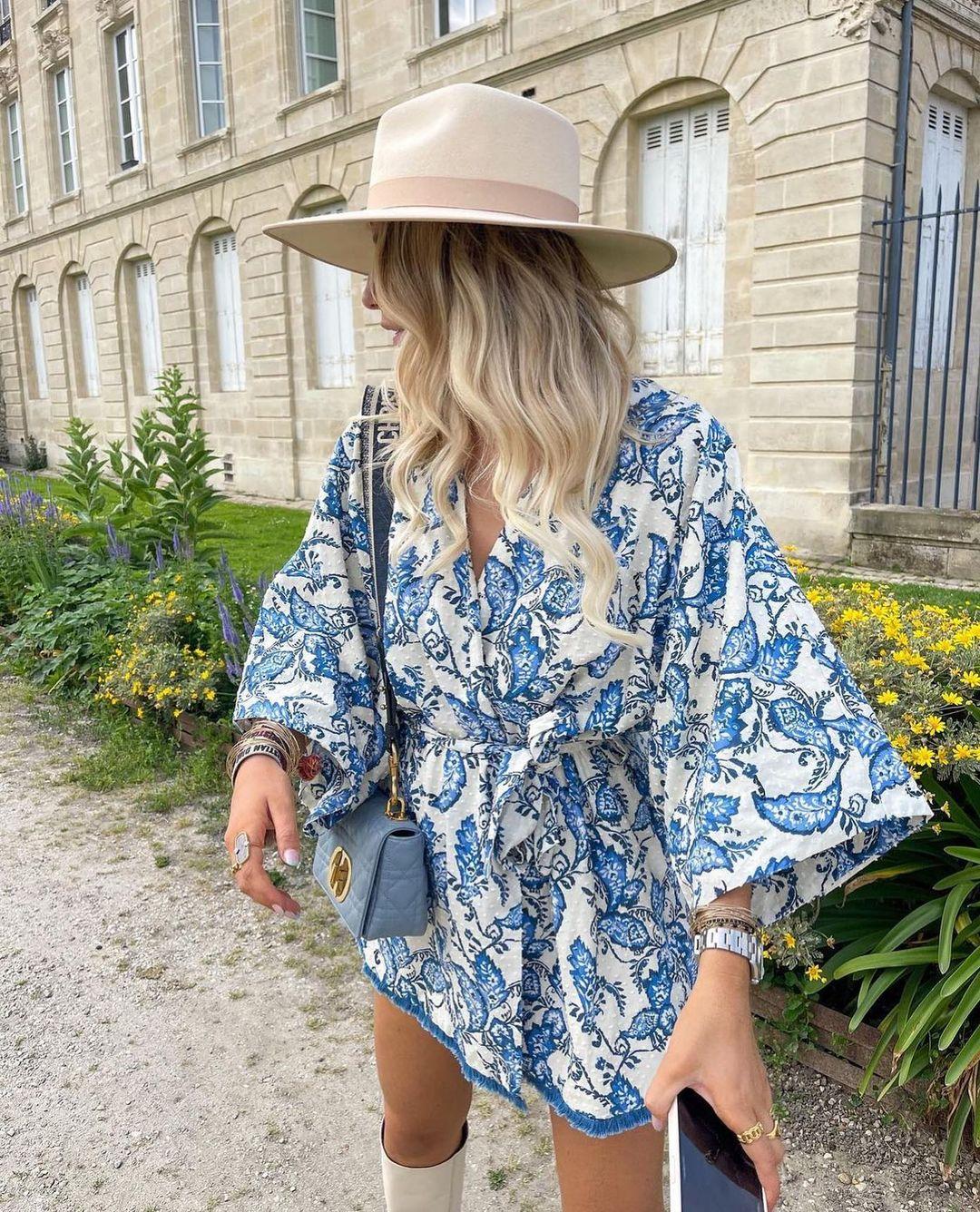 printed kimono de Zara sur zarastreetstyle