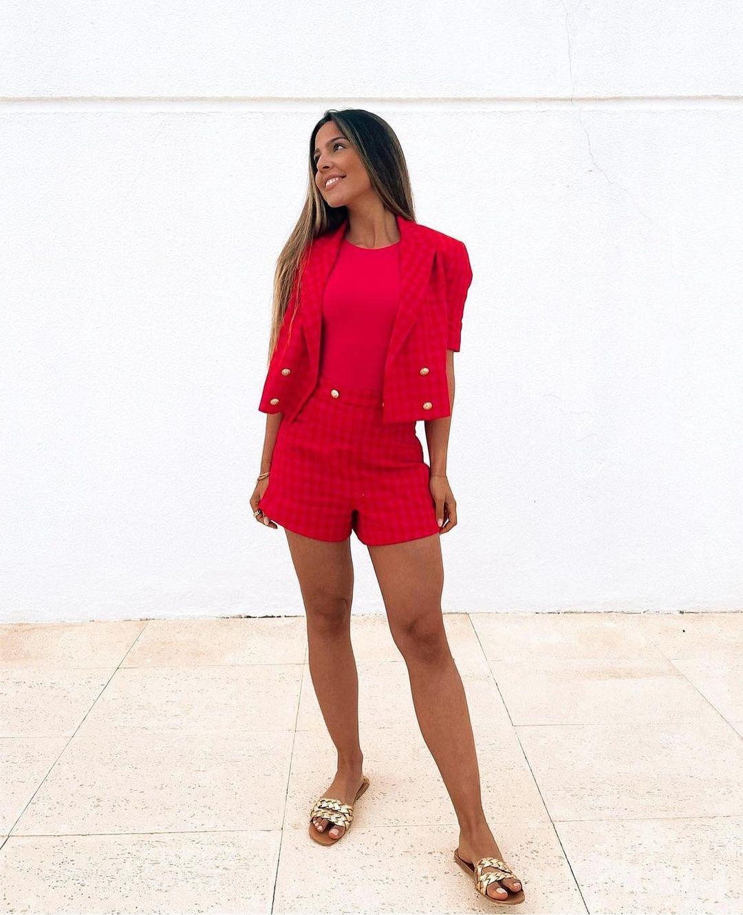 limited edition gingham plaid shorts de Zara sur zara.outfits