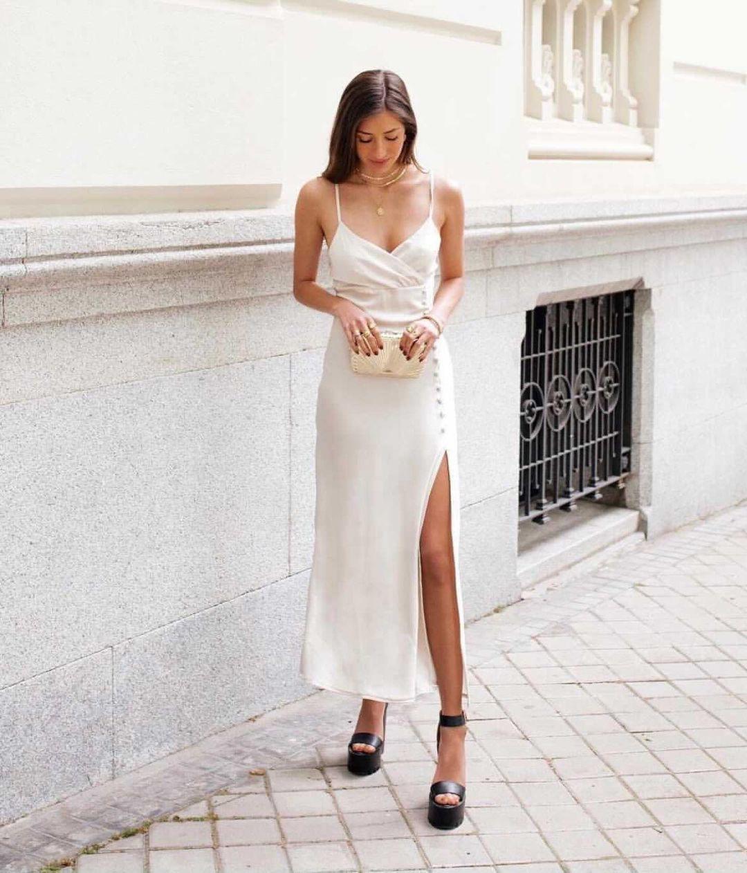 satin dress style lingerie de Zara sur zaraaddiction