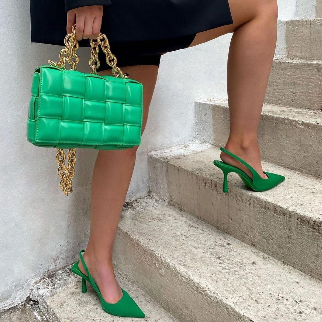 fabric back open heel shoes de Zara sur zara.style.daily