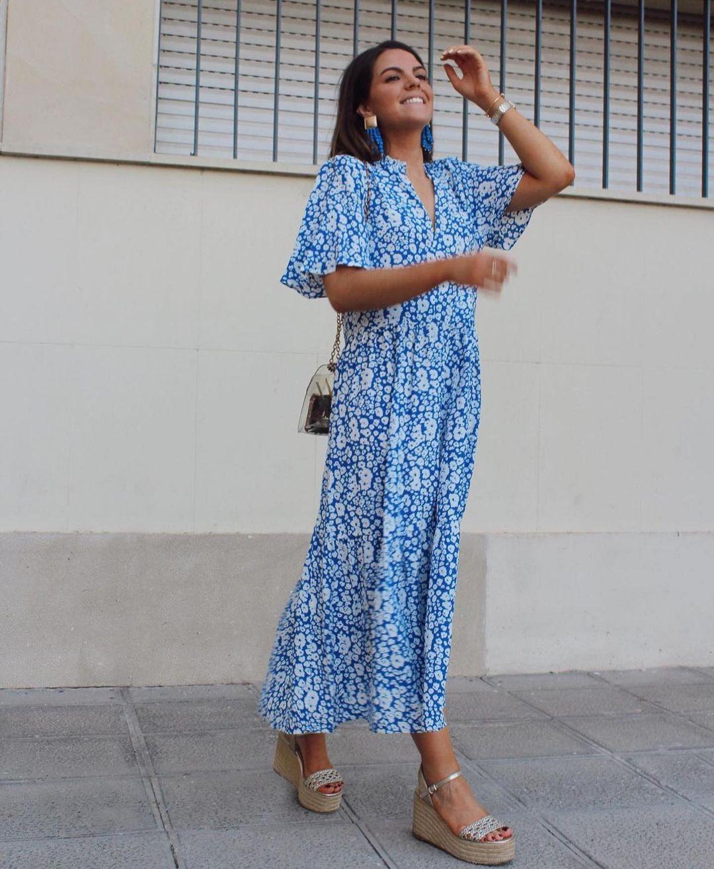 oversized dress with floral print de Zara sur zara.outfits