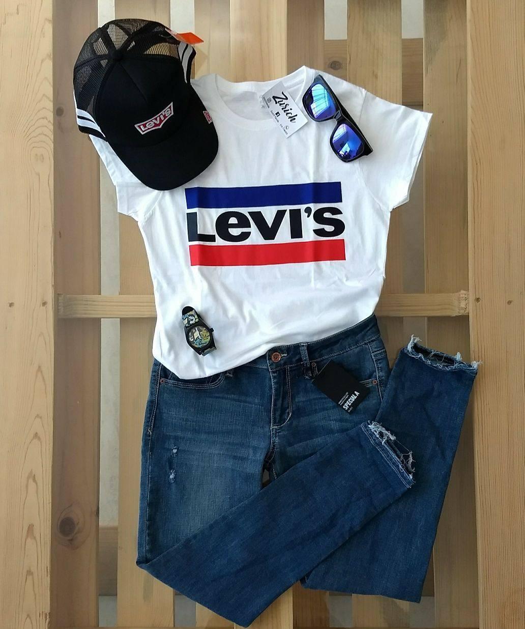 white girls levis t-shirt de Les Bourgeoises sur zurichtienda