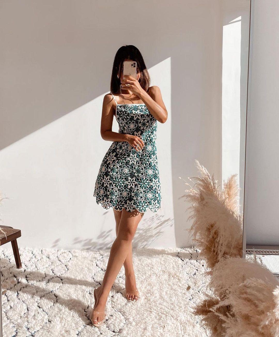 crocheted short dress de Zara sur zara.outfits