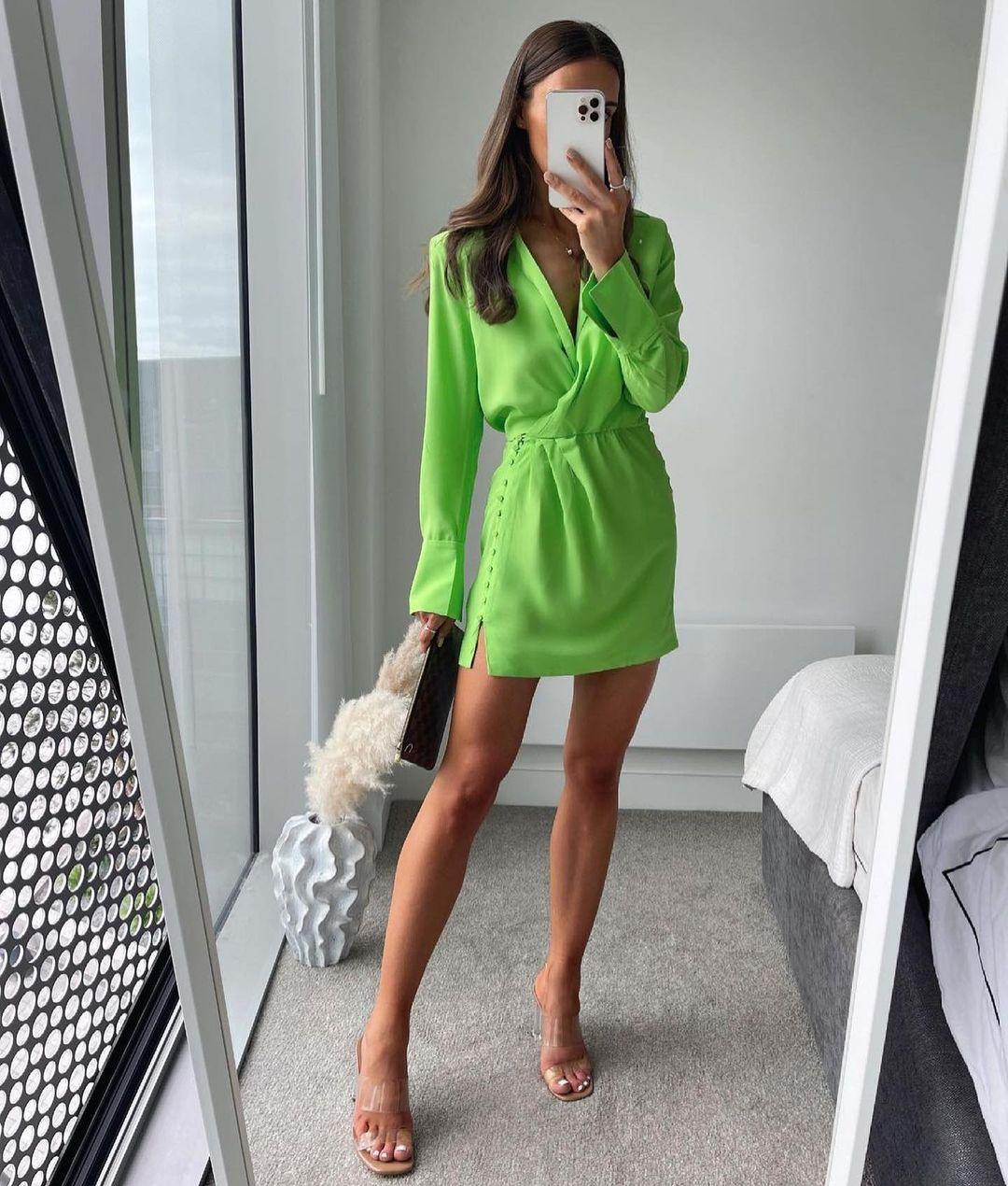 shoulder shirt dress de Zara sur zara.outfits