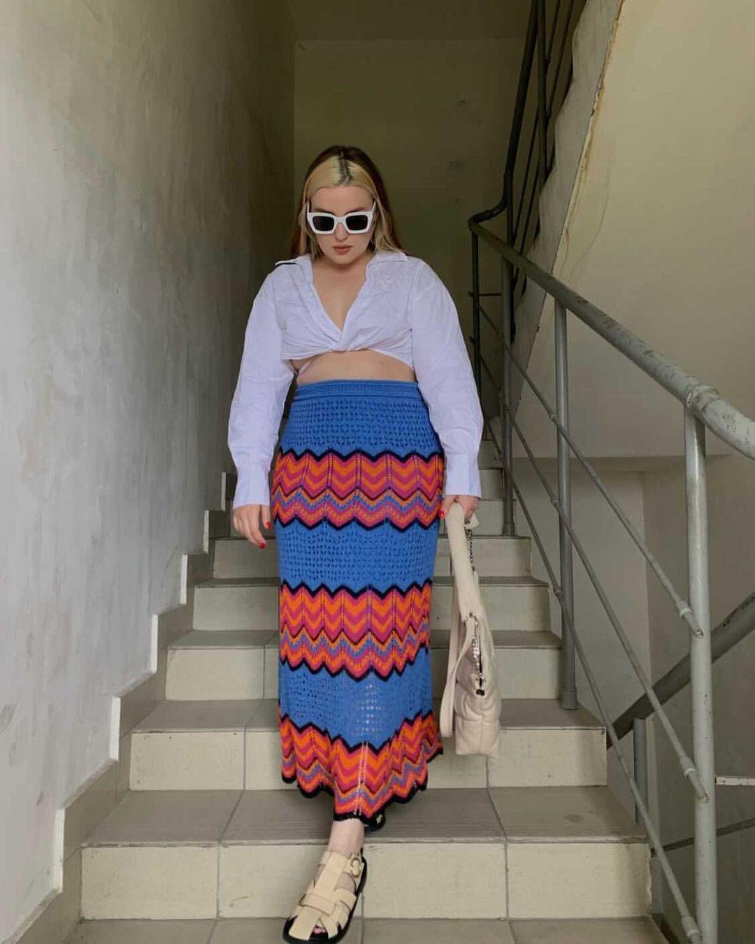 special edition crochet skirt de Zara sur zarastreetstyle
