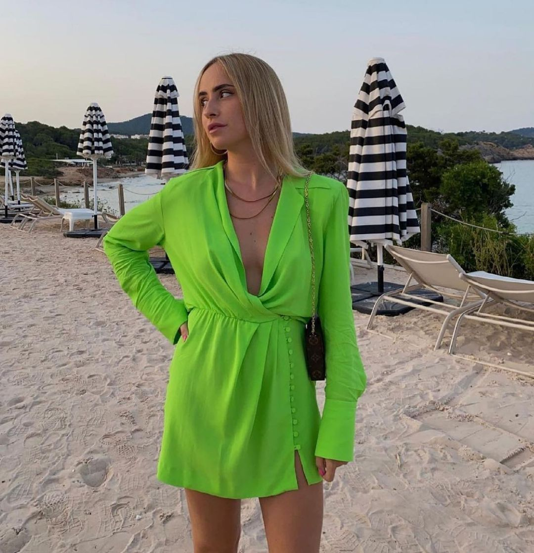 shoulder shirt dress de Zara sur zaradiccion__