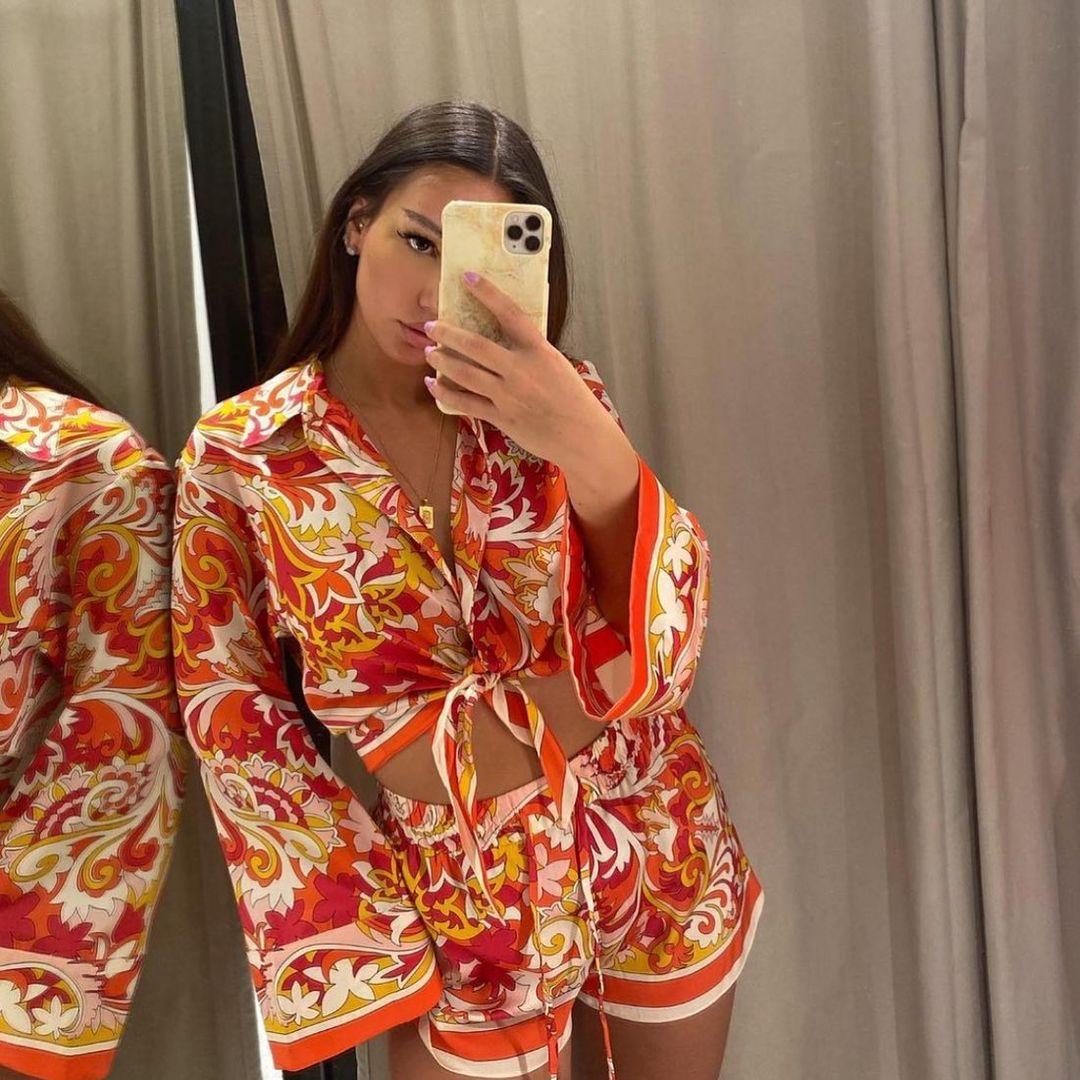 printed bow shirt de Zara sur zara.style.daily
