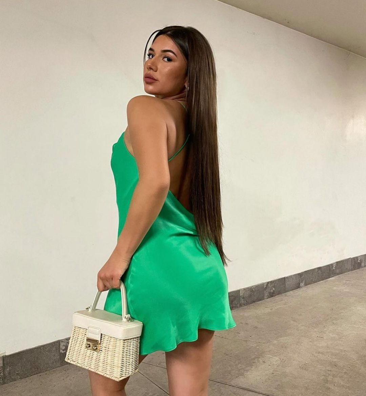 satin short dress de Zara sur zara.style.daily