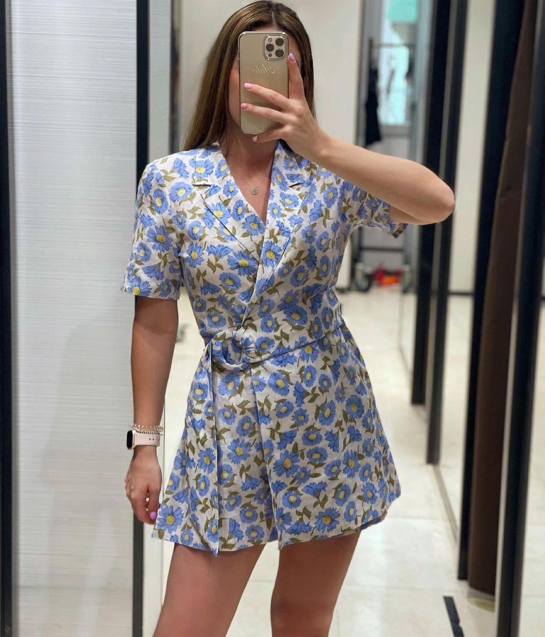 floral print jumpsuit de Zara sur zaradiccion__