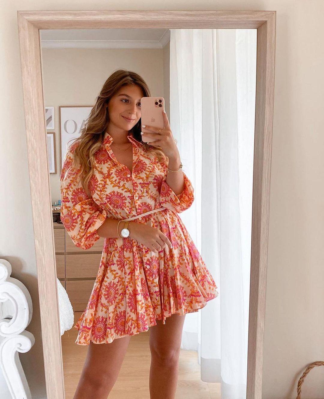 printed short dress de Zara sur zara.outfits